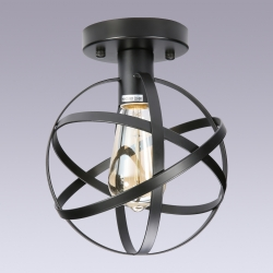 Retro Metal Globe Chandelier Mount Ceiling Lamp (include a Bulb)