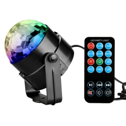 7 Colors Christmas Sound Activated Mini Magic Ball with Remote