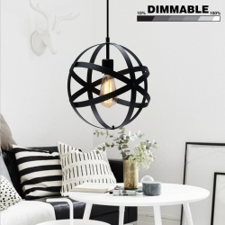 110V E26 Retro Pendant Black metal ceramic lamp holder
